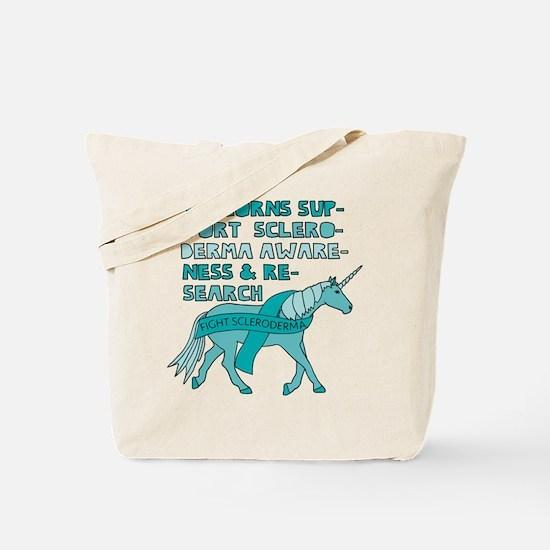 Unicorns Support Scleroderma Awareness Tote Bag