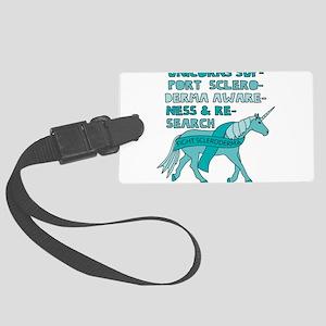Unicorns Support Scleroderma Awa Large Luggage Tag