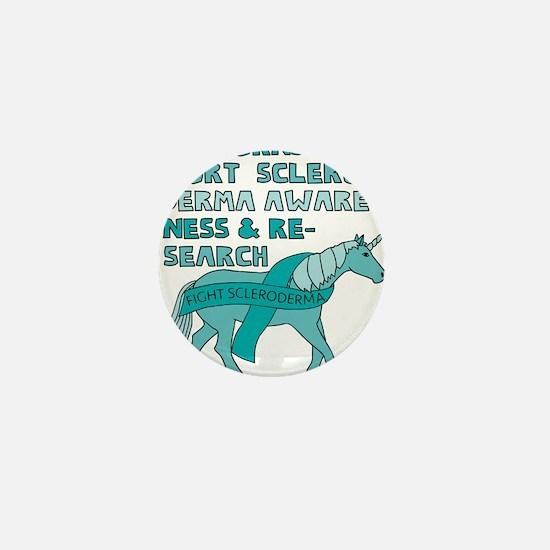 Unicorns Support Scleroderma Awareness Mini Button