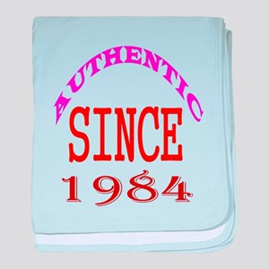 Authentic Since 1984 Birthday Designs baby blanket