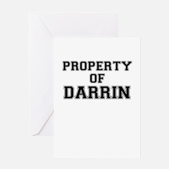 Property of DARRIN Greeting Cards