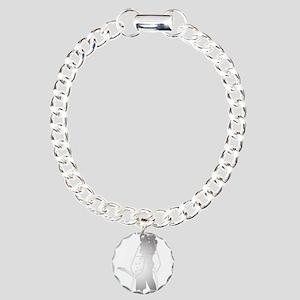 Champagne Glass Kiss Charm Bracelet, One Charm