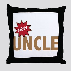 New Uncle Nephew Niece Family Throw Pillow