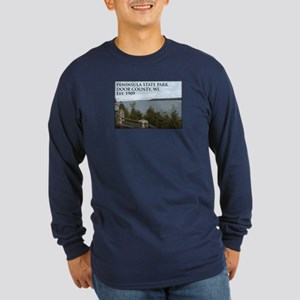 Peninsula State Park Long Sleeve Dark T-Shirt