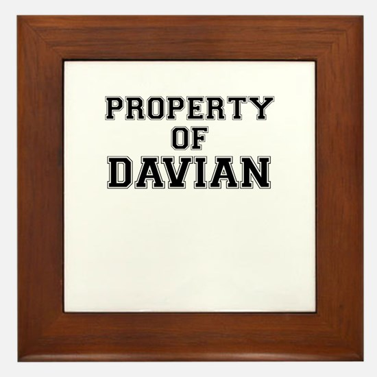 Property of DAVIAN Framed Tile