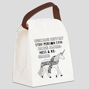 Unicorns Support Stiff Person Syn Canvas Lunch Bag