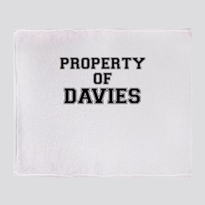Property of DAVIES Throw Blanket