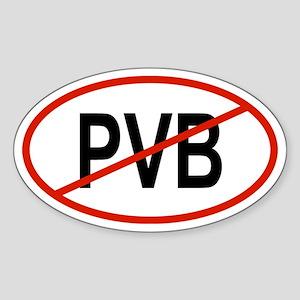 PVB Oval Sticker