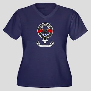 Badge - MacLeod Women's Plus Size V-Neck Dark T-Sh
