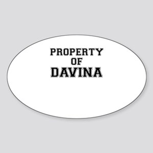Property of DAVINA Sticker