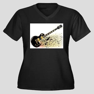 Shattering Blues Guitar Plus Size T-Shirt