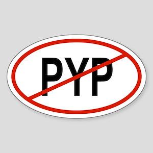 PYP Oval Sticker