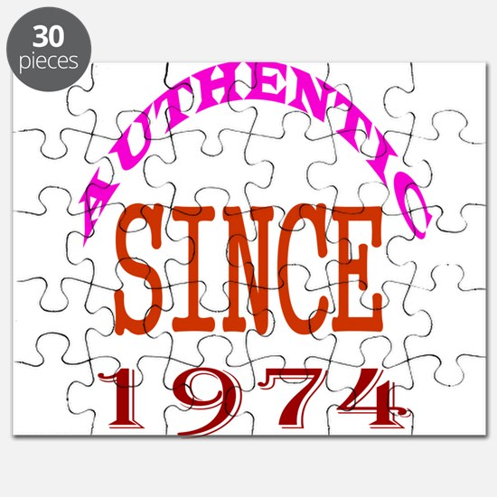 Authentic Since 1974 Birthday Designs Puzzle