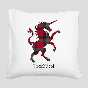 Unicorn - MacNicol Square Canvas Pillow