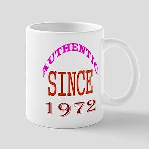 Authentic Since 1972 Birthday Designs Mug