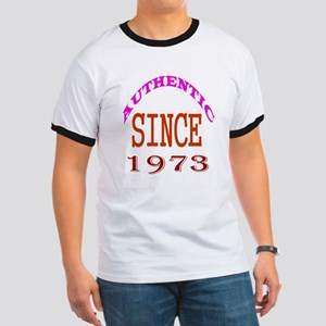 Authentic Since 1973 Birthday Designs Ringer T