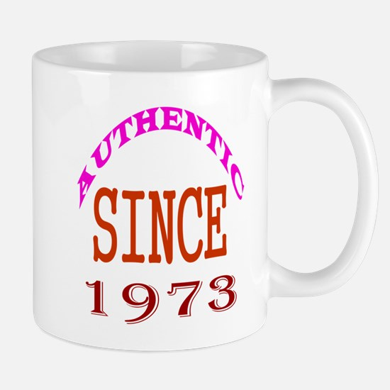 Authentic Since 1973 Birthday Designs Mug