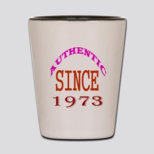 Authentic Since 1973 Birthday Designs Shot Glass