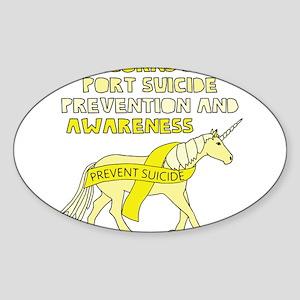 Unicorns Support Suicide Prevention & Awar Sticker