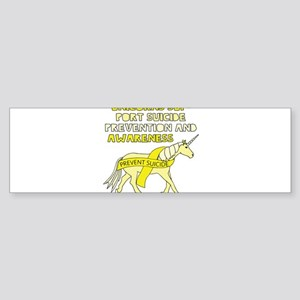 Unicorns Support Suicide Prevention Bumper Sticker