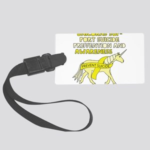 Unicorns Support Suicide Prevent Large Luggage Tag
