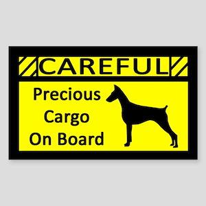 Precious Cargo Doberman Pinscher Sticker (Rect)