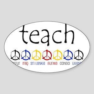 """TEACH PEACE"" SHIRTS Oval Sticker"