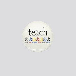 """""""TEACH PEACE"""" SHIRTS Mini Button"""