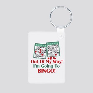 Bingo Players Funny Saying Aluminum Photo Keychain
