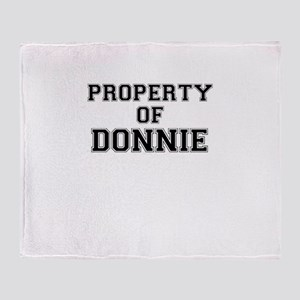 Property of DONNIE Throw Blanket