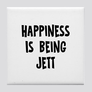 Happiness is being Jett Tile Coaster