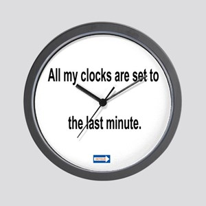 Last Minute Clocks Wall Clock