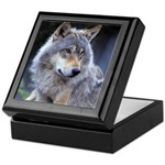 Gray Wolf Keepsake Box