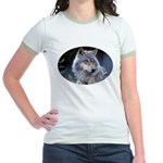 Gray Wolf Jr. Ringer T-Shirt