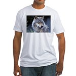 Gray Wolf Fitted T-Shirt