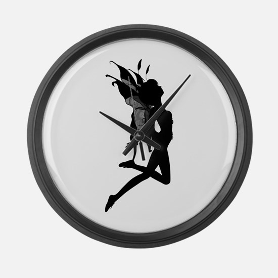 Fairy Silhouette Large Wall Clock