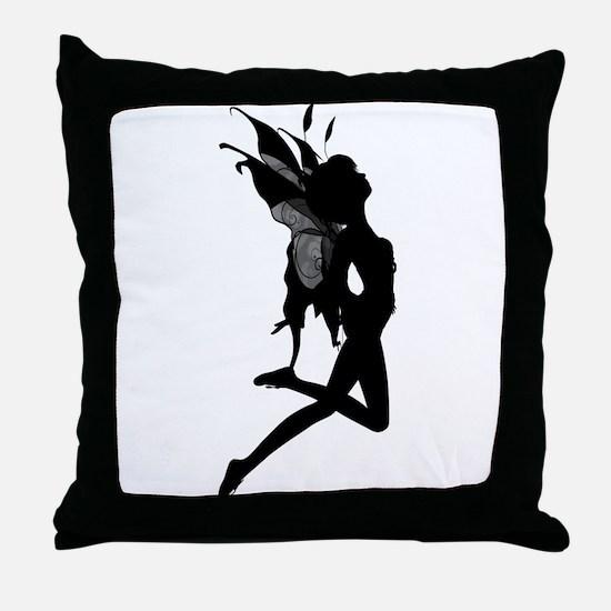 Fairy Silhouette Throw Pillow