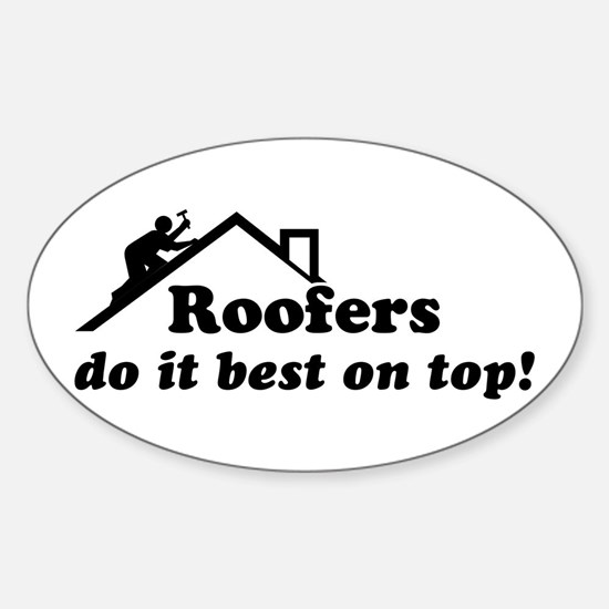 Roofer Oval Decal
