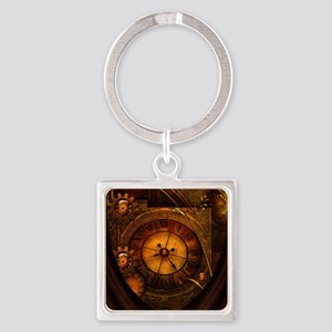 Awesome noble steampunk design, clocks Keychains