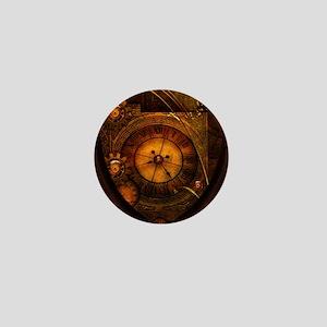 Awesome noble steampunk design, clocks Mini Button