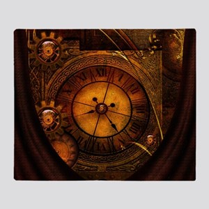 Awesome noble steampunk design, clocks Throw Blank