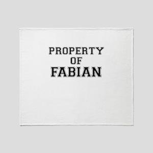 Property of FABIAN Throw Blanket