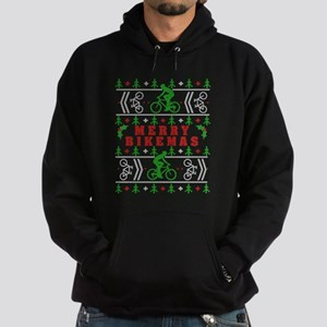 merry bikemas ugly christmas Hoodie (dark)