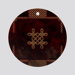 Celtic knote, vintage design Round Ornament