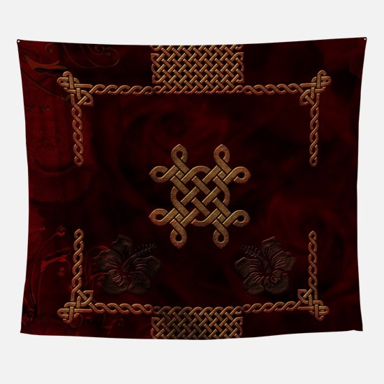 Celtic knote, vintage design Wall Tapestry