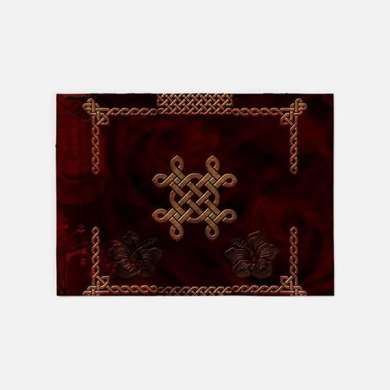 Celtic knote, vintage design 5'x7'Area Rug