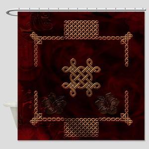 Celtic knote, vintage design Shower Curtain