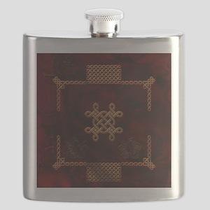 Celtic knote, vintage design Flask