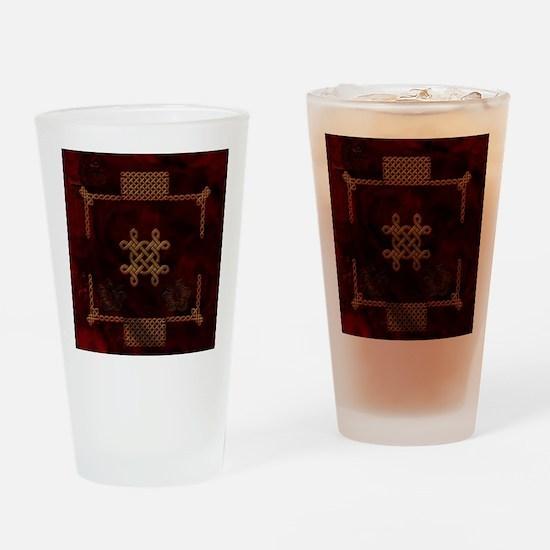 Celtic knote, vintage design Drinking Glass
