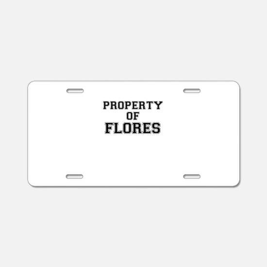 Property of FLORES Aluminum License Plate